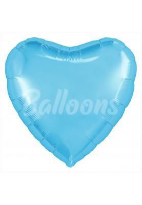 """Холодный голубой сердце с клапаном AГУРА (9""""23см) 755570"""