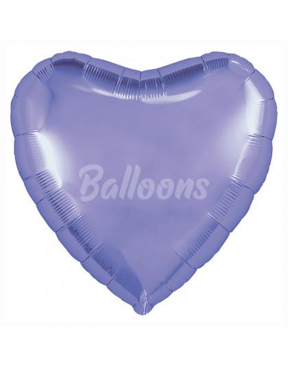 """Фиолетовый пастель сердце с клапаном AГУРА (9""""23см) 755556"""