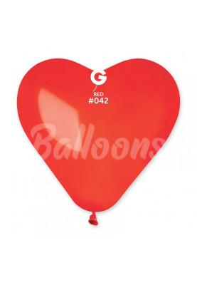"""CR17(#042)Сердце красный кристал(17""""44см)"""