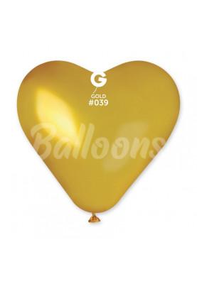 """CRM6(#039)Сердце золотое(6""""16см)"""