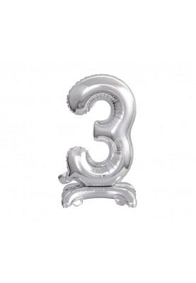 """3 Стоячая цифра серебро PL(30""""74см) BC-ASS3"""