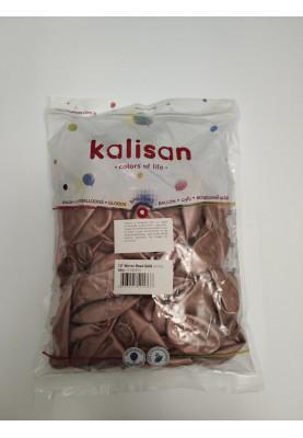 """Розовое золото хром Kalisan 12""""30см-50шт"""