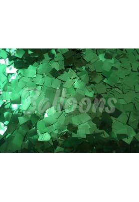 Конфетти квадраты зелёный металик 1см(1уп=0.5kg)