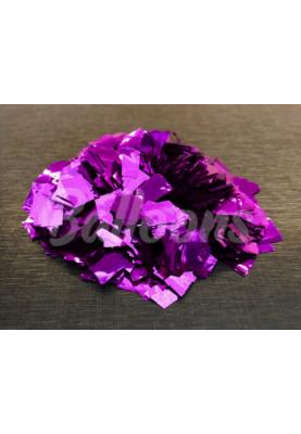 Конфетти квадраты фиолетовый металик 1см(1уп=0.5kg)