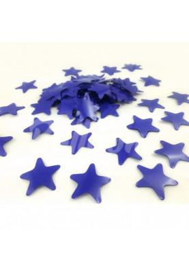 Конфетти звёздочки синие 3.5см(1уп=0.5kg)