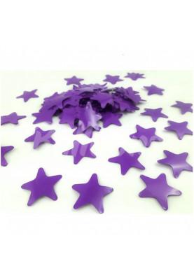 Конфетти звёздочки фиолетовые 3.5см(1уп=0.5kg)