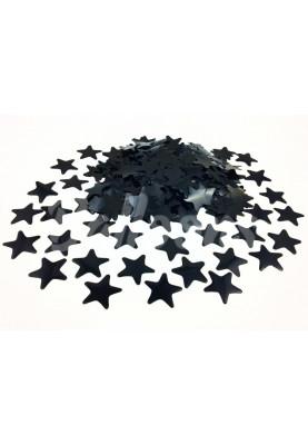 Конфетти звёздочки чёрные 3.5см(1уп=0.5kg)
