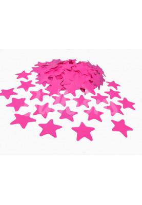 Конфетти звёздочки розовые 3.5см(1уп=0.5kg)