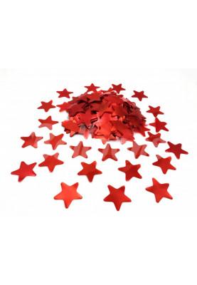 Конфетти звёздочки красные 3.5см(1уп=0.5kg)