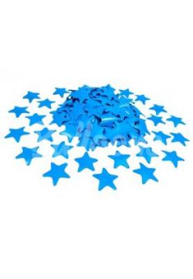 Конфетти звёздочки голубые 3.5см(1уп=0.5kg)