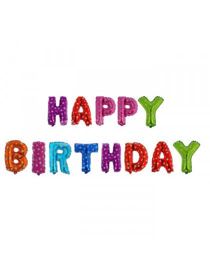 Фольгированные буквы разноцветные HAPPY BIRTHDAY (40 см)