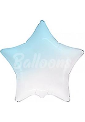 """Звезда фольгированная Baby blue градиент FM(18""""46см) 301500BGA"""