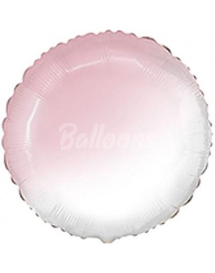 """Круг фольгированный Baby pink градиент FM(18""""46см) 401500BGRS"""