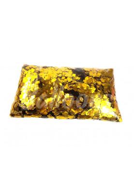 Конфетти квадраты золото 1см(1уп=0.5kg)