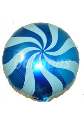 Круг фольгированный леденец синий Китай (44см)