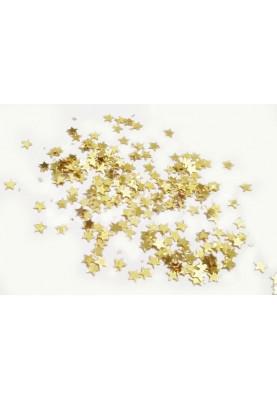 Конфетти звёзды золотые (3мм/1kg) Китай