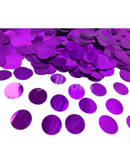 Конфетти круги фиолетовый МЕТАЛЛИК 2.3см(1уп=0.5kg)