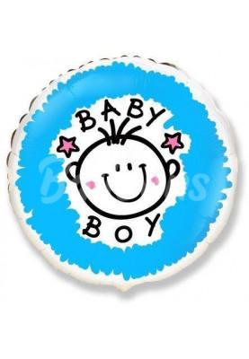 """Круг фольгированный """"BABY BOY"""" FM(18""""46см) 401533"""