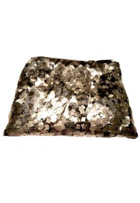 Конфетти квадраты серебро 1см(1уп=0.5kg)