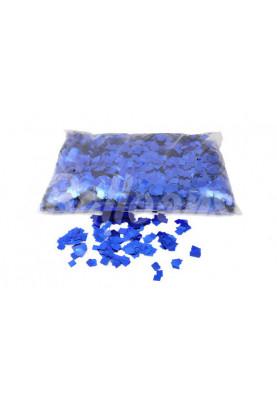Конфетти квадраты синий металик 1см(1уп=0.5kg)