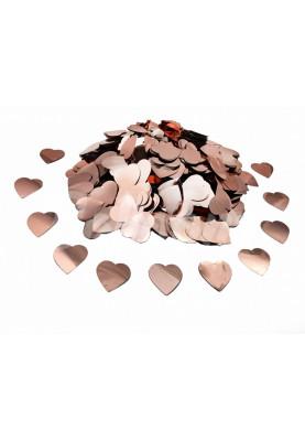 Конфетти сердечки розовое-золото (1уп=0.5kg)