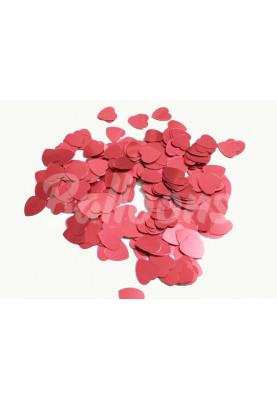 Конфетти сердца красные (9мм/1kg) Китай