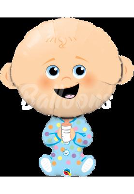 """Фольгированный шар малыш Baby Boy QL (38"""") 43323"""