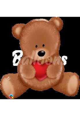 """Фольгированный шар медвежёнок Teddy QL (35"""") 65141"""