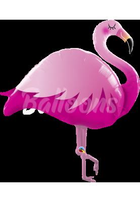 """Фольгированный шар фламинго розовый QL (46"""") 57804"""