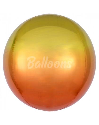 """Сфера фольгированная омбре жёлто-оранжевая Anagram 16""""41см"""