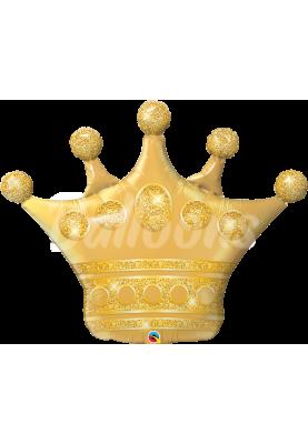 """Фольгированный шар корона золотая QL (41"""") 49339"""