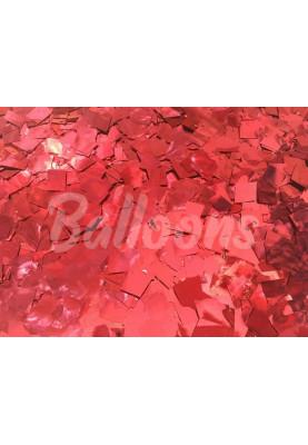 Конфетти квадраты красные металик 1см(1уп=0.5kg)