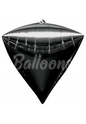 """Фольгированный шар Чёрный алмаз Anagram 16""""41см"""