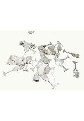 Конфетти бокалы серебро (1kg) Китай