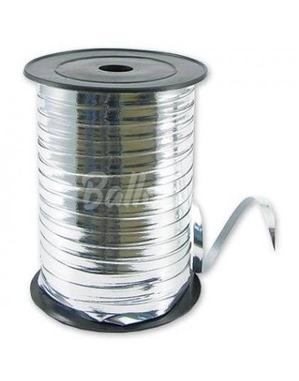 Лента металик серебро