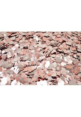 Конфетти квадраты розовое золото 1см(1уп=0.5kg)