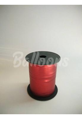 Лента металик красная