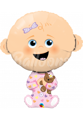 """Фольгированный шар малышка Baby Girl QL (38"""") 43327"""