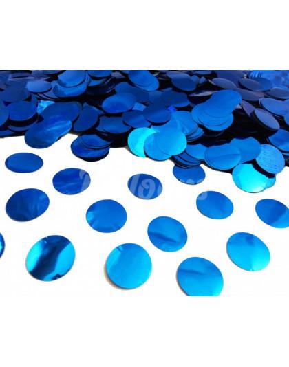 Конфетти круги синий МЕТАЛЛИК 2.3см(1уп=0.5kg)