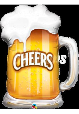 """Фольгированный шар пиво QL (39"""") 23484"""