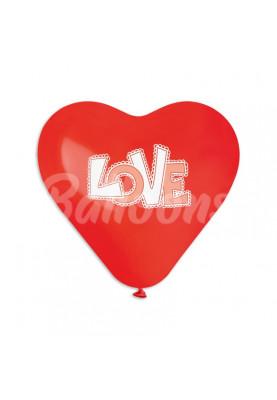 "CRS10(#045)красное LOVE (10""25см)"