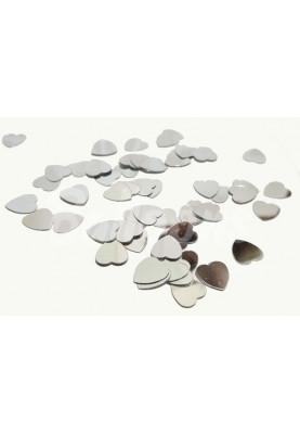 Конфетти сердца серебро (9мм/1kg) Китай