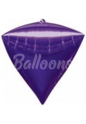 """Фольгированный шар Фиолетовый алмаз Anagram 16""""41см"""